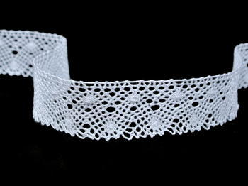 Bobbin lace No. 82198 white | 30 m - 4