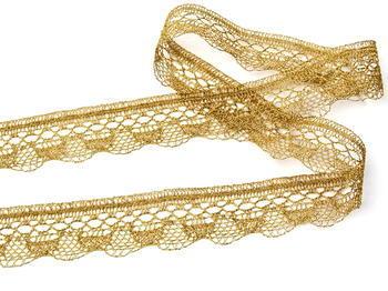 Paličkovaná krajka vzor 82216 zlatá | 30 m - 4
