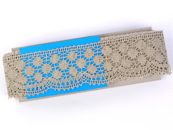 Bobbin lace No. 82220 natural  linen | 30 m - 4