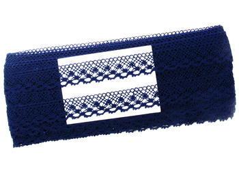 Bobbin lace No. 82222  dark blue | 30 m - 4