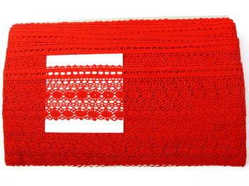Paličkovaná krajka vzor 82240 červená | 30 m - 4