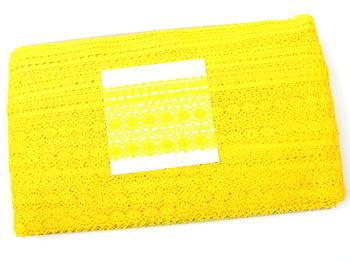 Paličkovaná krajka vzor 82240 žlutá   30 m - 4