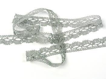 Bobbin lace No. 82307 silver | 30 m - 4