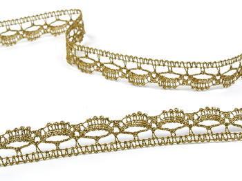 Paličkovaná krajka vzor 82307 zlatá antik | 30 m - 4