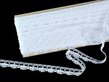 Bobbin lace No. 82307 white | 30 m - 4