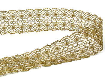 Bobbin lace No.  82309 gold antique | 30 m - 4