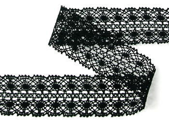 Bobbin lace No.  82309 black | 30 m - 4