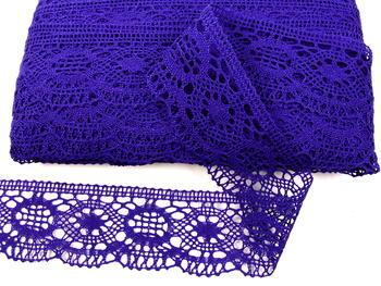 Paličkovaná krajka vzor 82339 purpurová | 30 m - 4