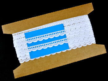 Embroidery lace No. 65026 white | 9,2 m - 5