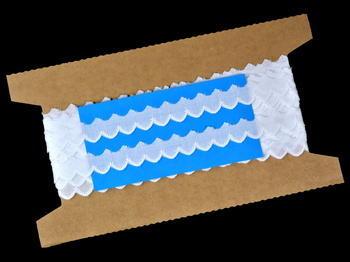 Vyšívaná krajka vzor 65089 bílá | 9,2 m - 5