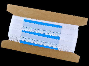Vyšívaná krajka vzor 65093 bílá | 9,2 m - 5