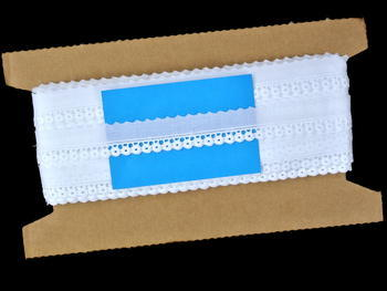 Vyšívaná krajka vzor 65097 bílá | 13,8 m - 5