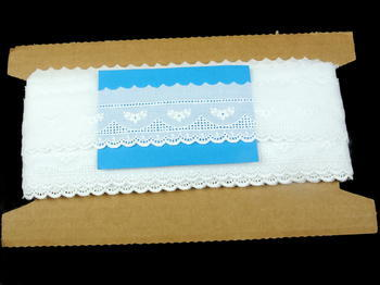 Embroidery lace No. 65115 white | 13,8 m - 5