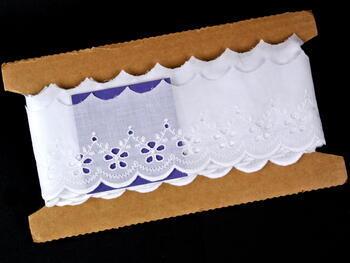 Vyšívaná krajka vzor 65 002 bílá | 9,2 m - 5