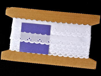 Embroidery lace No. 65004 white | 9,2 m - 5