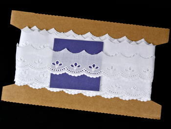 Embroidery lace No. 65010 white | 9,2 m - 5