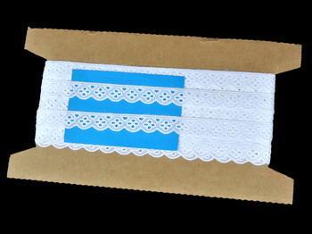 Vyšívaná krajka vzor 65013 bílá | 9,2 m - 5