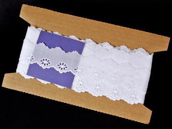 Embroidery lace No. 65017 white | 9,2 m - 5