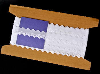Embroidery lace No. 65027 white | 9,2 m - 5
