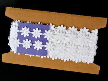 Vzdušná krajka vzor 66003 bílá | 9,2 m - 5