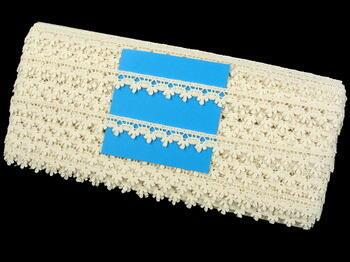 Cotton bobbin lace 73010, width 13 mm, ecru - 5