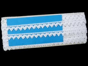 Paličkovaná krajka vzor 73010 bílá | 30 m - 5