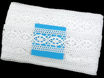 Paličkovaná vsadka vzor 75001 bílá | 30 m - 5