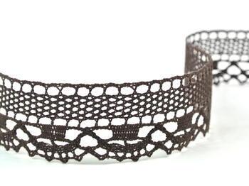 Cotton bobbin lace 75005, width38mm, dark brown - 5