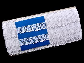 Paličkovaná krajka vzor 75020 bílá | 30 m - 5