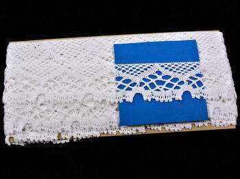 Paličkovaná krajka vzor 75022 bílá | 30 m - 5