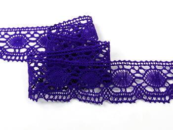 Paličkovaná krajka vzor 75032 purpurová | 30 m - 5
