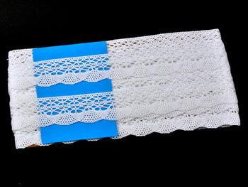Paličkovaná krajka vzor 75077 bílá | 30 m - 5