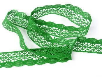 Paličkovaná krajka 75077 bavlněná, šířka32mm, trávová zelená - 5