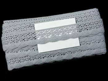 Paličkovaná krajka vzor 75077 šedá II. | 30 m - 5