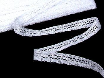 Paličkovaná krajka 75081 bavlněná, šířka19mm, bílá - 5