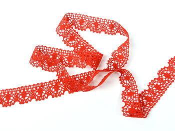 Paličkovaná krajka 75088 bavlněná, šířka 27 mm, červená - 5