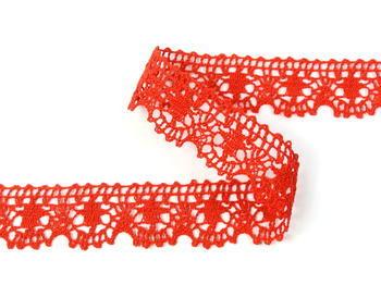 Paličkovaná krajka vzor 75088 červená | 30 m - 5