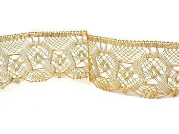 Metalic bobbin lace 75096, width 68 mm, Lurex gold - 5