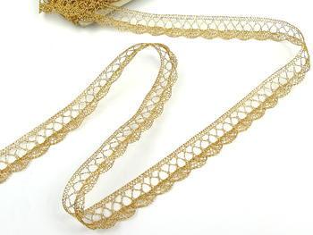 Paličkovaná krajka vzor 75428/75099 zlatá | 30 m - 5