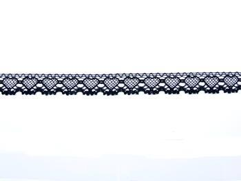 Cotton bobbin lace 75133, width 19 mm, black - 5