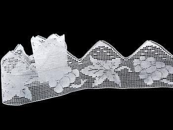Cotton bobbin lace 75136, width97 mm, white - 5