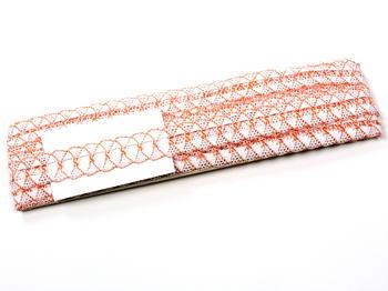 Paličkovaná krajka vzor 75169 bílá/oranžová | 30 m - 5