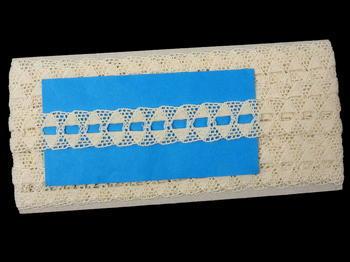 Paličkovaná krajka vzor 75170 režná   30 m - 5