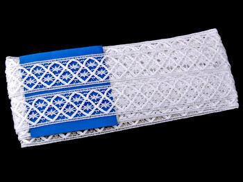 Paličkovaná vsadka vzor 75174 bílá | 30 m - 5