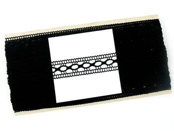 Paličkovaná vsadka vzor 75181 černá | 30 m - 5