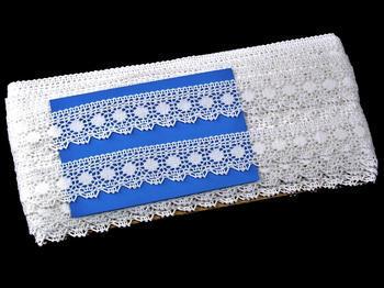 Paličkovaná krajka vzor 75184 bílá | 30 m - 5