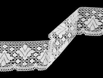 Paličkovaná krajka 75224 bavlněná, šířka 100 mm, bílá - 5