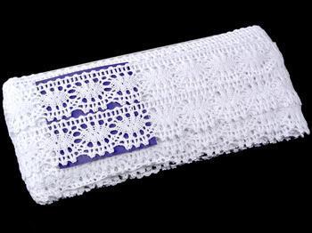 Paličkovaná krajka vzor 75230 bílá | 30 m - 5