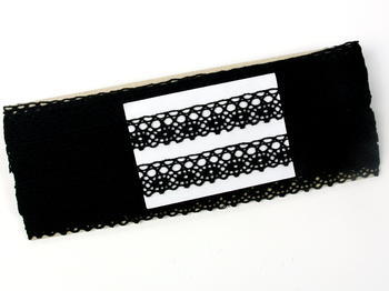 Bobbin lace No. 75239 black | 30 m - 5