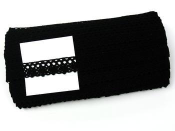 Paličkovaná krajka vzor 75239 černá | 30 m - 5